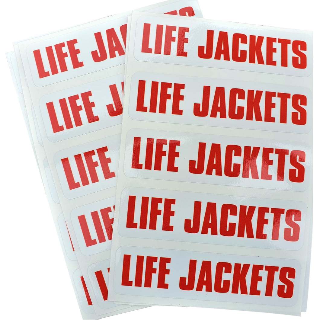 Life Jacket Sticker