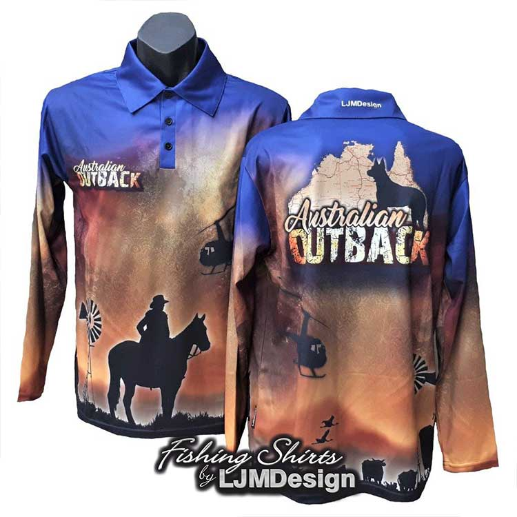 Australian Outback Fishing Shirt