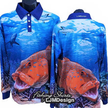 Load image into Gallery viewer, Bar Cheek Trout Fishing Shirt