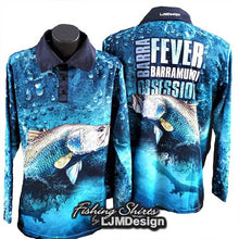 Load image into Gallery viewer, Barra Fever - Barramundi Obsession Fishing Shirt