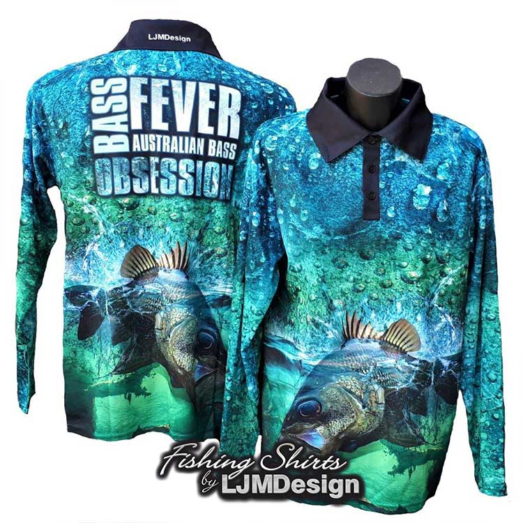 Bass Fever - Australian Bass Obsession Fishing Shirt