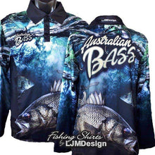 Load image into Gallery viewer, Australian Bass Fishing Shirt
