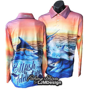 Billfish Addiction Fishing Shirt - Orange