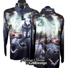 Load image into Gallery viewer, Black Boar Fishing Shirt