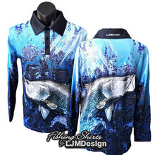 Load image into Gallery viewer, Blue Barramundi Fishing Shirt