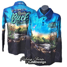 Load image into Gallery viewer, Rusty Buck Mudcrab - Blue Fishing Shirt Mud Crab