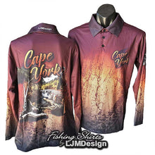Load image into Gallery viewer, Cape York Discovery Fishing Shirt - Orange