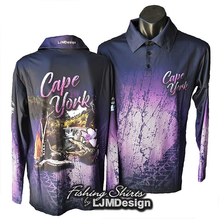 Cape York Discovery Fishing Shirt - Purple