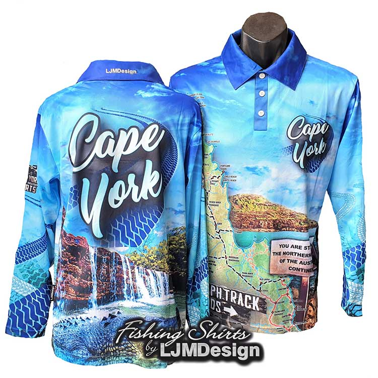 Cape York Tour Fishing Shirt - Blue