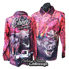 Load image into Gallery viewer, Cheers to the Weekend Fishing Shirt - Hunting Pink Camo