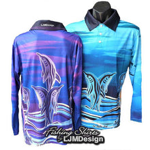 Load image into Gallery viewer, Dolphin Dreaming Fishing Shirt