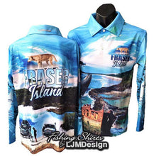 Load image into Gallery viewer, Complete Fraser Island Fishing Shirt - Blue