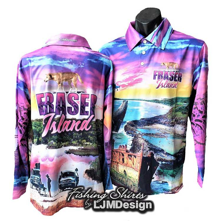 Complete Fraser Island Fishing Shirt - Pink