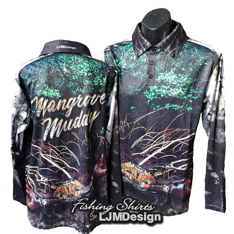 Mangrove Muddy Mud Crab Fishing Shirt