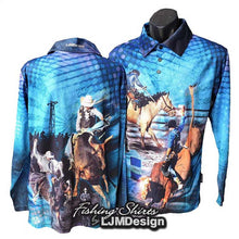 Load image into Gallery viewer, Rodeo Time Fishing Shirt