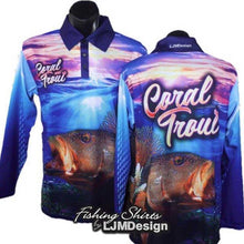 Load image into Gallery viewer, Sunrise Coral Trout Fishing Shirt