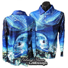 Load image into Gallery viewer, Top Water Trevally Fishing Shirt