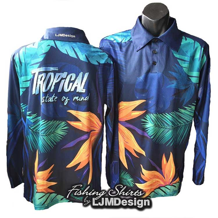 Tropical State of Mind Fishing Shirt Floral