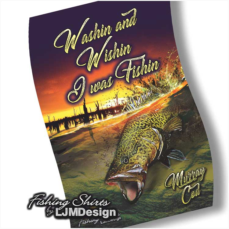 Murray Cod  Surface Strike Tea Towel