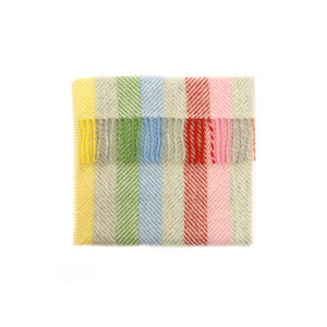 Wool Pram Blanket - Rainbow