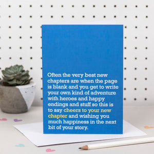 'Your New Chapter' Card