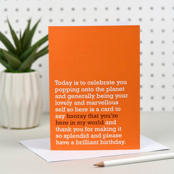 'Hooray You're Here' Card
