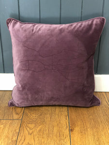 Velvet Ilkley Map Cushion