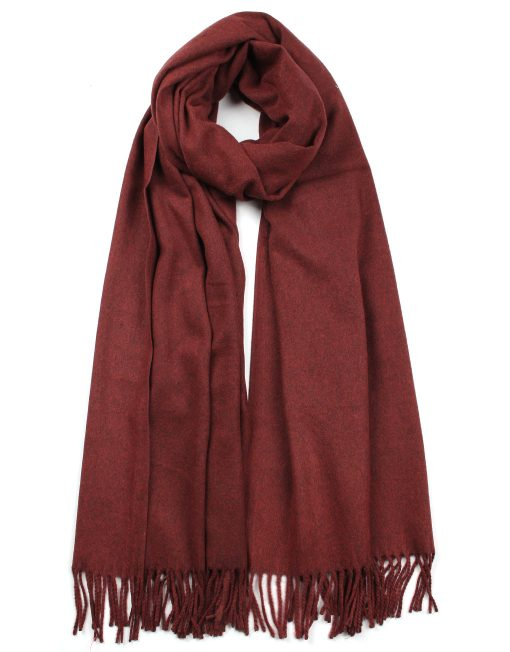 Plain Cashmere Mix Scarf
