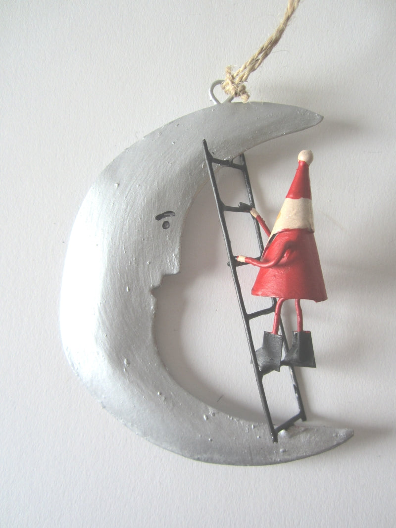 Tin Christmas Decorations - Santa