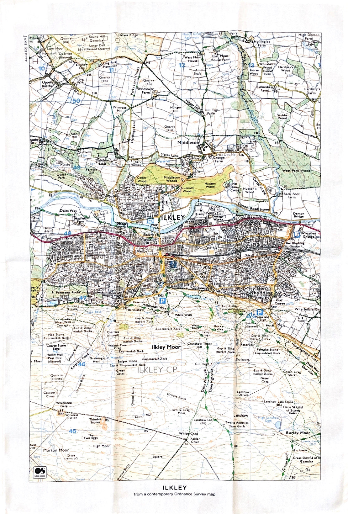 Map Tea Towel