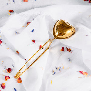 Brass Tea Infuser - Heart