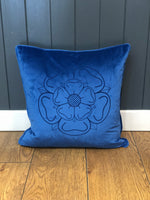 Load image into Gallery viewer, Velvet Yorkshire Rose Cushion