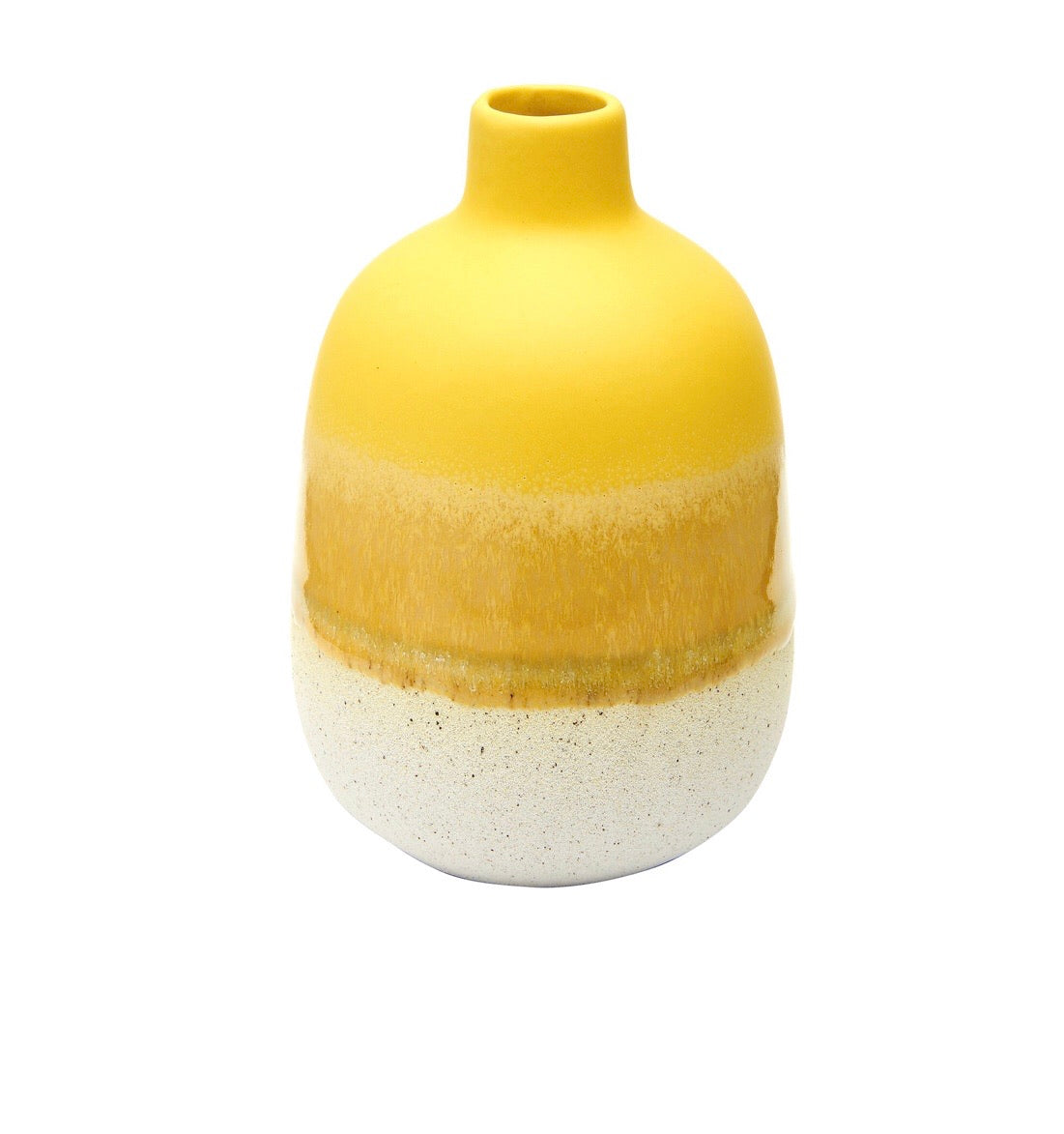 Glaze Bud Vase - Yellow