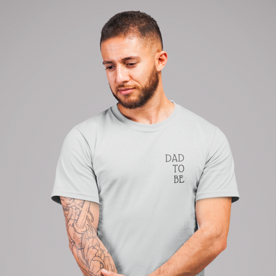 T-SHIRT HOMME COL ROND 100% COTON BIO DAD TO BE - liyahug