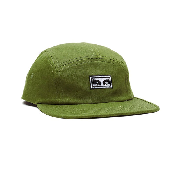Eyes 5 Panel Hat - Army Green