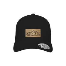 Load image into Gallery viewer, Rise and Climb Black Flexfit Snapback Trucker