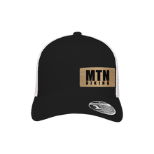 Load image into Gallery viewer, MTN Hiking Black and White Flexfit Snapback Trucker