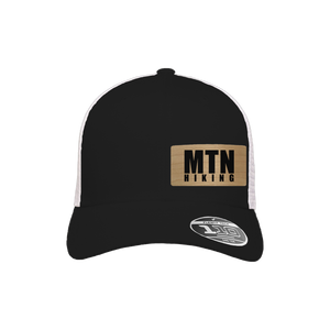 MTN Hiking Black and White Flexfit Snapback Trucker