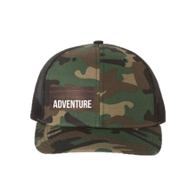 Load image into Gallery viewer, Adventure Green Camo Snapback Trucker