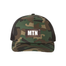 Load image into Gallery viewer, MTN Green Camo Snapback Trucker