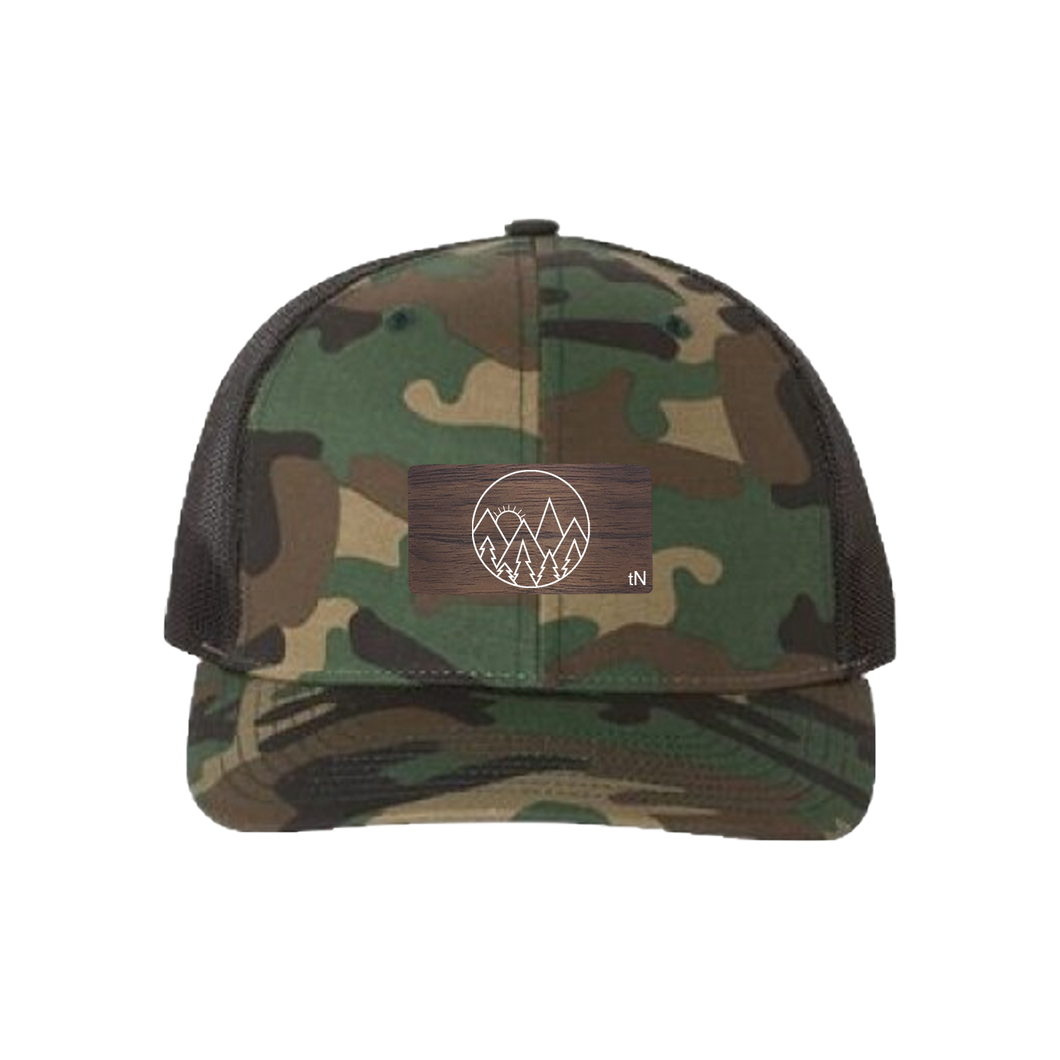 Mountain Sky Green Camo Snapback Trucker