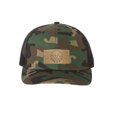 Load image into Gallery viewer, Mountain Sky Green Camo Snapback Trucker