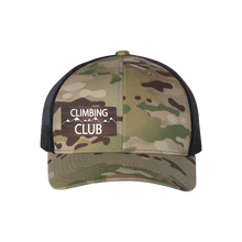 Load image into Gallery viewer, Climbing Club Multi Camo Snapback Trucker