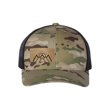 Load image into Gallery viewer, Mountain Sunrise Multi Camo Snapback Trucker