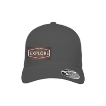 Load image into Gallery viewer, Explore Charcoal Flexfit Snapback Trucker