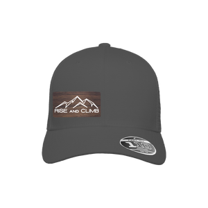 Rise and Climb Charcoal Flexfit Snapback Trucker