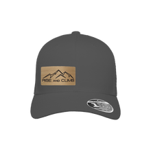 Load image into Gallery viewer, Rise and Climb Charcoal Flexfit Snapback Trucker