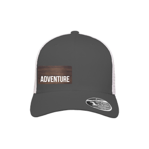 Adventure Charcoal and White Flexfit Snapback Trucker