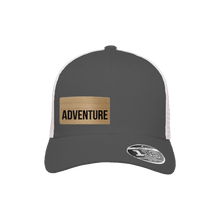 Load image into Gallery viewer, Adventure Charcoal and White Flexfit Snapback Trucker
