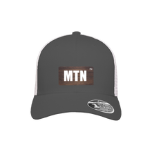 Load image into Gallery viewer, MTN Charcoal and White Flexfit Snapback Trucker